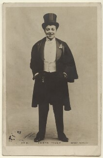 Vesta Tilley, by Langfier Ltd, published by  Rotary Photographic Co Ltd - NPG Ax160053