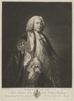 John Thomas, by Richard Houston, published by  Robert Sayer, after  Benjamin Wilson - NPG D40411