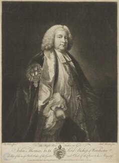 John Thomas, by Richard Houston, published by  Robert Sayer, after  Benjamin Wilson - NPG D40412