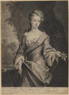 Lucy Manners (née Sherard), Duchess of Rutland ('The Honble: Mrs. Sherard.'), by and published by John Smith, after  Sir Godfrey Kneller, Bt - NPG D39952