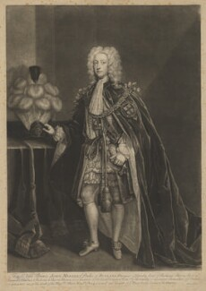John Manners, 3rd Duke of Rutland, by John Faber Jr, after  Charles Jervas - NPG D39953