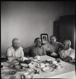 Melkon Karamian and friends, by Ida Kar - NPG x134678