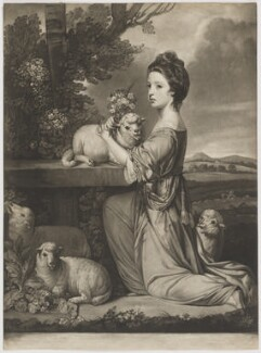 Mary (née Leslie), Countess of Portmore, by Jonathan Spilsbury, after  Sir Joshua Reynolds - NPG D40382