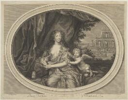 Louise de Kéroualle, Duchess of Portsmouth, by Étienne Baudet, after  Henri Gascar, circa 1673 - NPG D40383 - © National Portrait Gallery, London