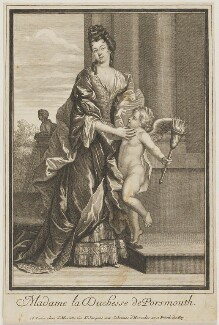 Louise de Kéroualle, Duchess of Portsmouth, published by Jean Mariette - NPG D40384
