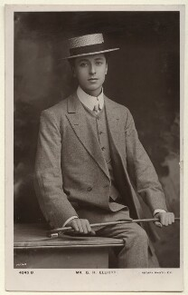 George Henry Elliott, by The Hana Studios Ltd, published by  Rotary Photographic Co Ltd - NPG Ax160055