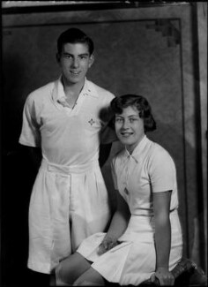 Robert ('Bob') Nicoll; Jean Nicoll (Mrs Bostock), by Bassano Ltd, 10 May 1937 - NPG  - © National Portrait Gallery, London