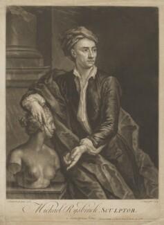 John Michael Rysbrack, by and sold by John Faber Jr, after  John Vanderbank, 1734 (1728) - NPG D39967 - © National Portrait Gallery, London