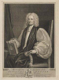 John Potter, by George Vertue, after  Thomas Gibson - NPG D40389