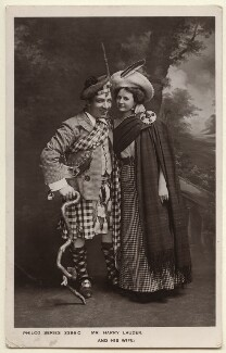 Sir Harry Lauder; Annie (née Vallance), Lady Lauder, published by The Philco Publishing Co - NPG Ax160058