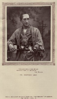 Durward Lely (James Durward Lyall) as Nanki-Poo in 'The Mikado', by Herbert Rose Barraud, published by  Carson & Comerford - NPG x20003