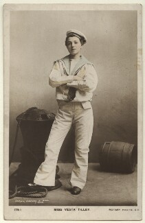 Vesta Tilley, by Brown, Barnes & Bell, published by  Rotary Photographic Co Ltd - NPG Ax160071