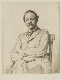 Sir Joseph John Thomson, by Francis Dodd - NPG D40441