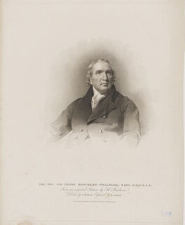 Sir Henry Moncreiff-Wellwood, 8th Bt, by Edward Scriven, published by  T. Cadell & W. Davies, after  John Jackson, after  Sir Henry Raeburn - NPG D39969