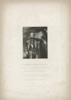 John Manners, Marquess of Granby, by John Henry Robinson, published by  Harding & Lepard, after  William Derby, after  Sir Joshua Reynolds - NPG D39971