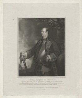 John Manners, Marquess of Granby, by William Bond, printed by  Bell & Wright, published by  Longman & Co, published by  Josiah Taylor, published by  William Bond, after  Sir Joshua Reynolds - NPG D39972