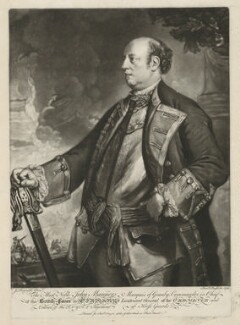 John Manners, Marquess of Granby, by Richard Purcell (H. Fowler, Charles or Philip Corbutt), printed for  Robert Sayer, after  Sir Joshua Reynolds - NPG D39974