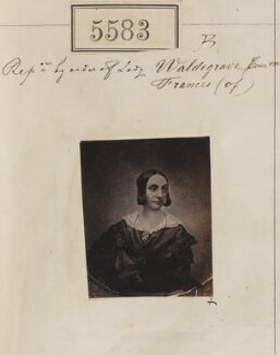 'Reproduction by order of Lady Frances, Countess of Waldegrave' (Frances Elizabeth Anne (née Braham), Countess Waldegrave), by Camille Silvy, after  Unknown photographer - NPG Ax55538