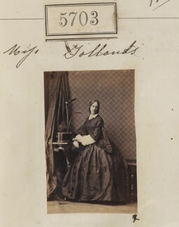 Probably Mary Brettle Ellis Jollands, by Camille Silvy, 7 September 1861 - NPG Ax55658 - © National Portrait Gallery, London