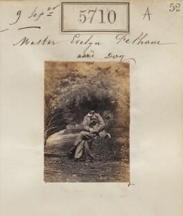 Hon. Evelyn Cornwallis Anderson-Pelham and dog, by Camille Silvy - NPG Ax55665