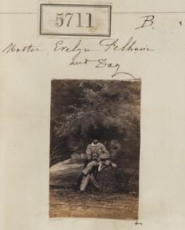 Hon. Evelyn Cornwallis Anderson-Pelham and dog, by Camille Silvy - NPG Ax55666