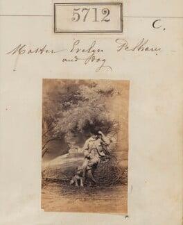 Hon. Evelyn Cornwallis Anderson-Pelham and dog, by Camille Silvy - NPG Ax55667