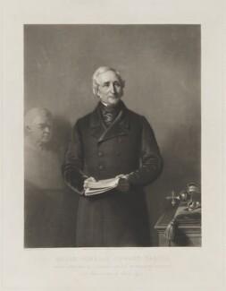 Sir Edward Sabine, by James Scott, published by  Henry Graves & Co, after  Stephen Pearce, published 6 April 1858 (1850) - NPG D39977 - © National Portrait Gallery, London