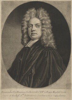 Henry Sacheverell, by Andrew Johnston, published by  Philip Overton, after  Thomas Gibson - NPG D39980