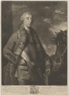 George Sackville Germain, 1st Viscount Sackville, by James Macardell, after  Sir Joshua Reynolds - NPG D39982
