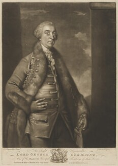 George Sackville Germain, 1st Viscount Sackville, by James Macardell, printed for  Robert Sayer, printed for  John Bennett, after  Sir Joshua Reynolds - NPG D39983