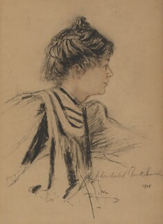 Dame Christabel Pankhurst, by Richard George Mathews - NPG 6904