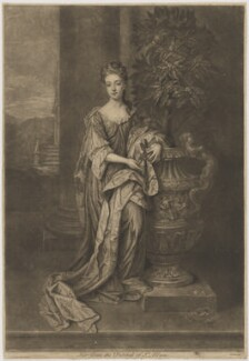 Diana Beauclerk (née de Vere), Duchess of St Albans, by John Faber Jr, after  Sir Godfrey Kneller, Bt - NPG D39997