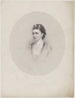 Sybil Mary (née Grey), Duchess of St Albans, by Francis Holl, printed by  McQueen (Macqueen), published by and after  Dickinson Brothers - NPG D39998