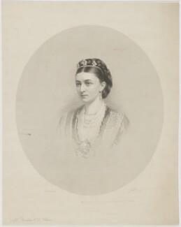 Sybil Mary (née Grey), Duchess of St Albans, by Francis Holl, after  Dickinson Brothers - NPG D39999
