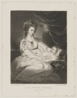 Sophia Ashburnham (née Thynne), Lady St Asaph; George Ashburnham, Viscount St Asaph, by Samuel William Reynolds, published by  Henry Graves & Co, after  Sir Joshua Reynolds - NPG D40001