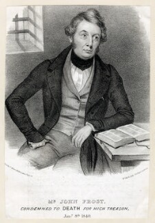 John Frost, by W. Clerk, published by  F. Glover, 1840 - NPG D40454 - © National Portrait Gallery, London