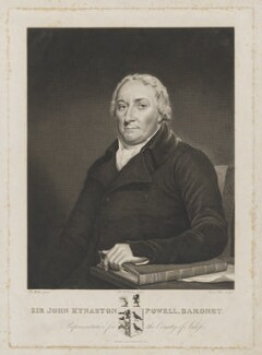 Sir John Kynaston Powell, Bt, by James Stow, after  George Perfect Harding, after  Robert Muller - NPG D40459