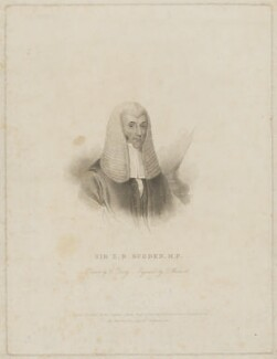 Edward Burtenshaw Sugden, 1st Baron St Leonards, by Thomas Woolnoth, published by  Charles Sweet, after  Charles Penny - NPG D40012