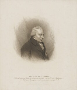 John Jervis, Earl of St Vincent, by Anthony Cardon, published by  T. Cadell & W. Davies, after  William Evans, and after  Sir William Beechey - NPG D40014