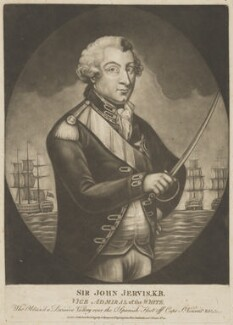 John Jervis, Earl of St Vincent, published by George Thompson, published by  John Evans - NPG D40017