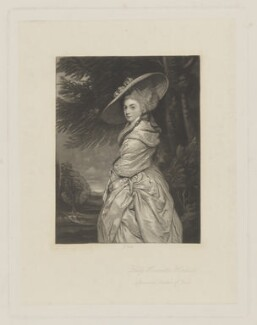 Henrietta Antonia Clive (née Herbert), Countess of Powis, by James Scott, after  Sir Joshua Reynolds - NPG D40468
