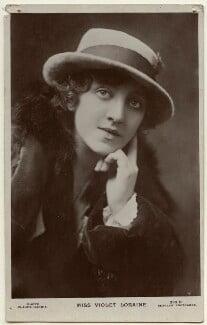 Violet Loraine, by Claude Harris, published by  J. Beagles & Co, 1920s - NPG Ax160127 - © National Portrait Gallery, London
