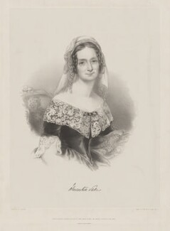 Florentia (née Wynch), Lady Sale, by Richard James Lane, printed by  M & N Hanhart, published by  Henry Graves & Co, after  Maria A. Chalon - NPG D40021