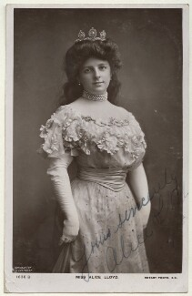 Alice Lloyd (née Wood), by Hutchinson & Svendsen, published by  Rotary Photographic Co Ltd - NPG Ax160140
