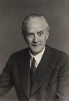 Clement Edward Davies, by Walter Stoneman - NPG x167028