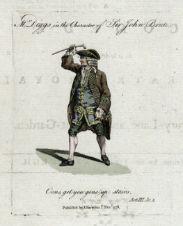 Mr Digges in the Character of Sir John Brute (West Digges), published by J. Harrison - NPG D40544