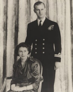 Queen Elizabeth II; Prince Philip, Duke of Edinburgh, by Baron Studios - NPG P1420