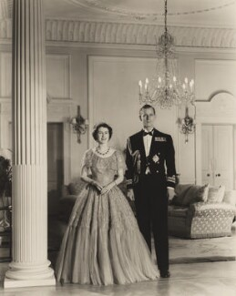 Queen Elizabeth II; Prince Philip, Duke of Edinburgh, by Baron Studios - NPG P1423