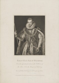 Robert Cecil, 1st Earl of Salisbury, by Charles Picart, published by  Lackington, Hughes, Harding, Mavor & Jones, published by  Longman, Hurst, Rees, Orme & Brown, after  William Hilton, after  Federico Zuccaro, published 1 March 1820 - NPG D40025 - © National Portrait Gallery, London