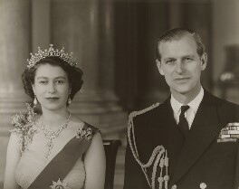 Queen Elizabeth II; Prince Philip, Duke of Edinburgh, by Baron Studios - NPG P1445